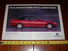 1993 BMW 325i CONVERTIBLE - ORIGINAL 2 PAGE AD