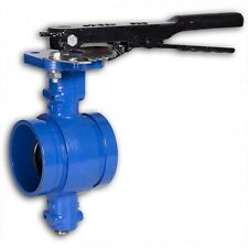 "Grooved End Butterfly Valve 2"" 200 cwp, Ductile Iron Buna Disc Lever NEW <070WH"