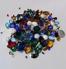 225 vintage rhinestones loose size shape colors assorted jewelry repair
