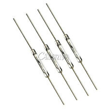 10PCS MKA-14103 Gold Tone Leads Glass N/O SPST Reed Switches 10-15AT 2 x 14mm C