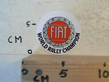 STICKER,DECAL FIAT WORLD RALLY CHAMPION VINTAGE STICKER