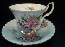 Royal Albert Roses Gold Footed  Cup & Saucer