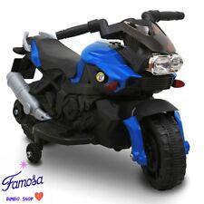 Moto Motocicletta Elettrica Sprint Blu 6V Per Bambini CON LUCI E SUONI