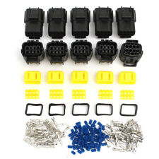5 Set Vehicle 8 Pin Way Terminals Waterproof Electrical Wire Connector Plug AWG