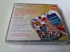 "CD ""STRAVINSKY LE ROSSIGNOL OEDIPUS REX RENARD"" 2CD COMO NUEVO JAMES CONLON MOST"