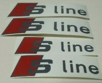 4 Pegatinas sticker brake caliper Audi Sline  pinzas freno 10 y 8 cm
