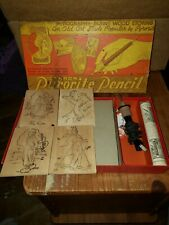 vintage toy: CARRON PYRORITE PENCIL in box, with some unused wood , some used