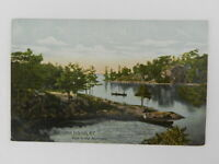 Vintage UNPosted Postcard Thousand Island NY View in the Narrows Lake Canoe