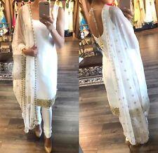 White Punjabi Patiala Special Festival Indian Designer Wedding salwar suit
