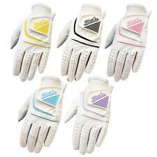 5 pack Women / Ladies Golf gloves all weather cabretta leather palm patch Thumb