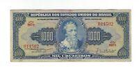 1000 Cruzeiros Brasilien 1955 C051 / P.156c - Brazil Banknote