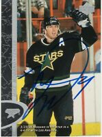 MIKE MODANO SIGNED AUTOGRAPH DALLAS STARS  1996-1997 UPPER DECK UD CARD  PROOF