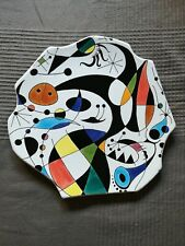 Ceramic Plate Hand Painted Art Joan Miro