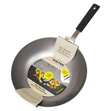 Salter 28cm Wok in acciaio al carbonio professionale cucina cinese agitare Fry piatto Forno Pan