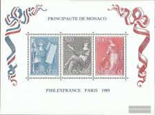 Monaco block45 (complete issue) used 1989 PHILEXFRANCE 89
