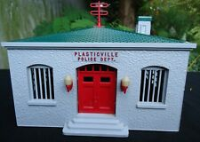 Plasticville O Scale # PD-3 Police Department Complete In The Box Clean.