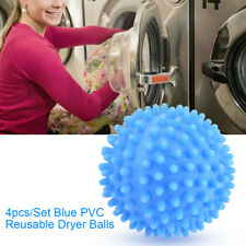 4PC Non Melt Reusable Laundry Tumble Drying Balls for Dryer Washing Machine Blue