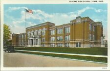 Old Vintage Central High School In Xenia Ohio Postcard