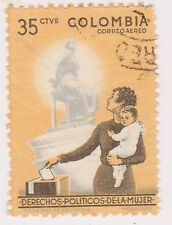 (COA-160) 1961 Colombia 35c Women's franchise (N)
