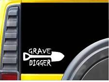 Grave Digger K938 8 inch Sticker Mortician decal