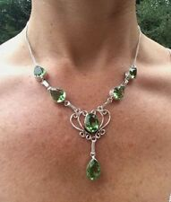 Handmade Peridot Sterling Silver Fine Necklaces & Pendants