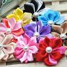 10pcs Satin Ribbon Flowers Bows Craft Sewing Appliques  E268
