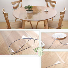 Waterproof PVC Heavy Clear Round Tablecloth Table Cover Scratch Proof  Protector