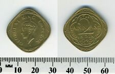 India - British 1943 - 2 Annas Nickel-Brass - George VI - 4-sided - #1