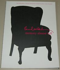 Paul McCartney Memory Almost Full Piano Vocal Guitar Songbook Klavier Notenbuch