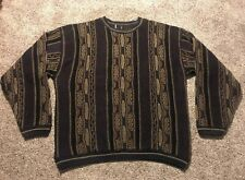 Vintage 90's Mens Large Protege Mens Coogi Style Cosby Biggie Crewneck Sweater