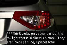 Red Tail Light Vinyl Overlays for 2008 2014 Subaru Impreza WRX STI