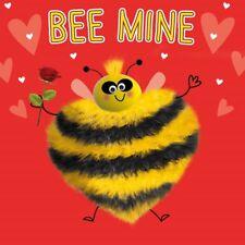 Bee MINE LUSSO Fluff & gogglies 3D San Valentino Carta OCCHI in movimento gli amanti degli animali