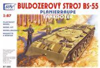 SDV Military Tankdozer BS-55 Plastic Model Kit 1/87 H0