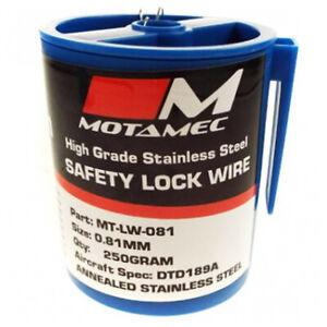 Motamec Motorsport 0.81mm Aircraft Spec DTD189 Stainless Steel Safety Lock Wire