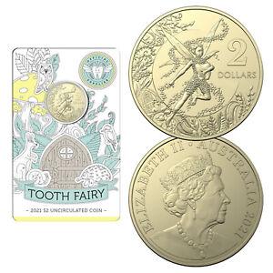 Australia 2021 Tooth Fairy $2 Dollars UNC Coin AlBr Carded RAM
