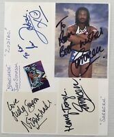 GLADIATORS. 3 Genuine Handsigned Signatures on 10 x 8. Pages.