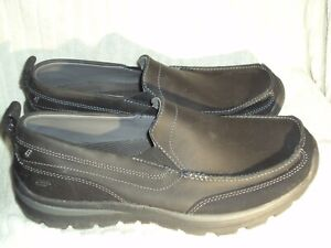 Men's Leather Shoes by Skechers Relaxed Fit Memory Foam-Worn Once-Sz 8 1/2