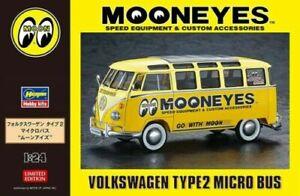 Mooneyes 1:24 Volkswagen Type 2 Microbus / Hasegawa Plastic Model Kit 20477