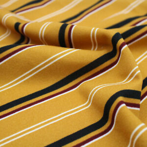Diagonal Stripes Pattern Printed Scuba Crepe Techno Knit Fabric- Style P-556-702