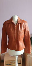 Apart Lederjacke Gr. DE 38 Orange Damen Jacke Leder Leather Jacket