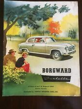 Borgward Isabella Fergus Imported Cars Sales Brochure