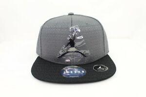 Jordan Jumpman Adjustable Snapback Hat  YOUTH SIZE 8/20 9A1419-204 Gray Black