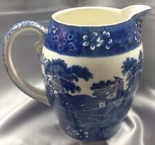 VINTAGE - FLOW BLUE - PITCHER BY Copeland England - SPODE'S TOWER