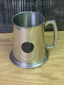 Michigan State Beer Stein Mug Stainless Steel Cup, Glass Bottom W/ Handle MSU