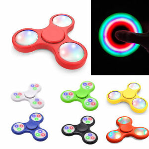 LED Light Fidget Spinner Focus Toy, Stress Anxiety Relief EDC Hand Toy Pack