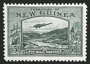 New Guinea Stamp 1939 5d Air Mail Scott # C52 SG218 MINT OG H
