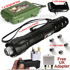 Professional Laser Pointer Kits 532nm 1mw Powerful Green Light Lazer Pen Beam UK