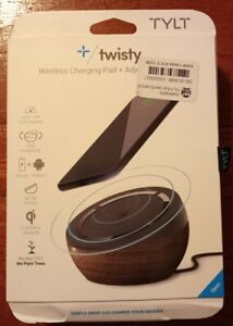 Tylt Twisty Fast Wireless Charging Pad + Adjustable Stand Qi Comp iPhone Samsung