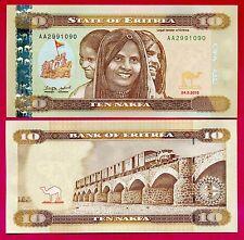 Erythrée # billet de banque 10 nafka ~ neuf ~ 2012 .