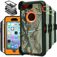 For iPhone 6 6S 7 8 Plus Shockproof Hard Cover Rugged Case W/Belt Clip Holster